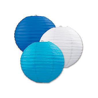 Papierlaternen (Pack Of 3) - Blues & White