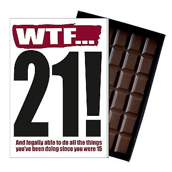 Funny 21st Birthday Gift Rude Naughty Present for Him or Her 85g Chocolate Greeting Card IYF110