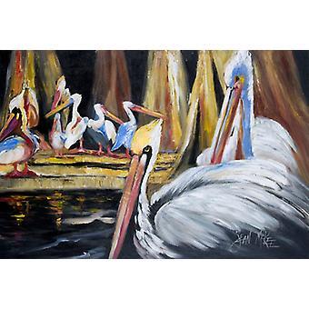 Carolines Treasures  JMK1137PLMT Pelicans Fabric Placemat