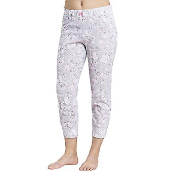 Rösch 1884153-11913 Women's Smart Casual Günlük Gri Çiçek Pamuk Pijama Pant