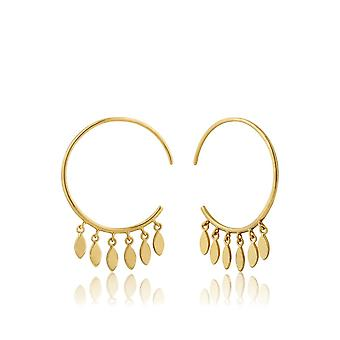 Ania Haie Gold Plated Sterling Silver 'All Ears' Multi Drop Hoop Earrings