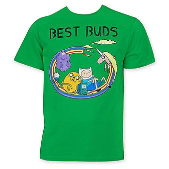 Adventure Time Men's Green Best Buds Tee Shirt