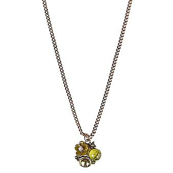 Louche Zara Green Flower Necklace Gold