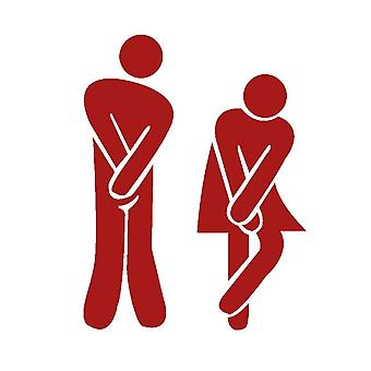 Sticker decal Toa Toilet urgent Man and woman red