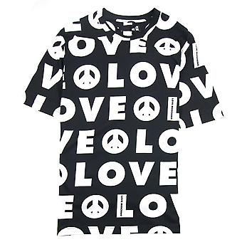Love Moschino All Over Love Printed T-Shirt Black/white
