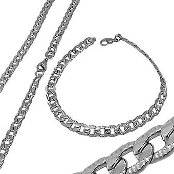Set Halsband & Armband Stainless Steel 7mm