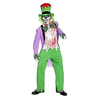 Mens Bad Hatter Halloween fantasia vestido traje