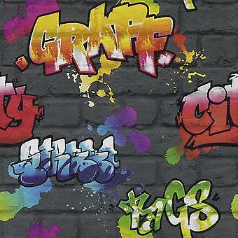 Graffiti Fond d'écran Rasch noir 237801