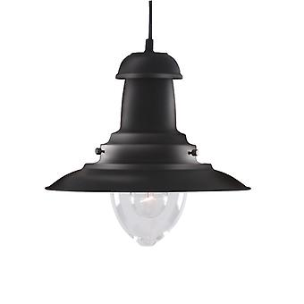 Coastal Matte Black Fisherman Style Lantern