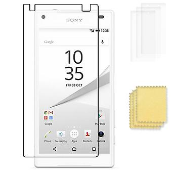 3 pack Sony Xperia Z5 compact Screen Protector display beschermer 3st
