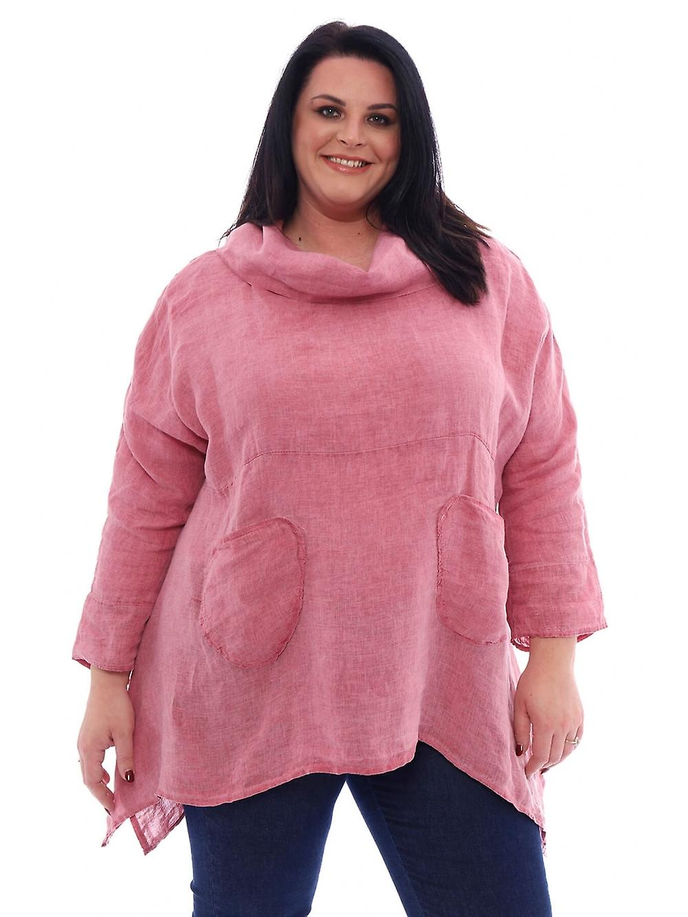 Made In Italy Lyzzick Premium Washed Linen Tunic