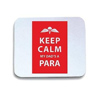 White mouse pad pad wtc0682 keep calm my dads a para