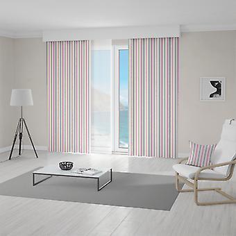 Meesoz Vorhänge - Retro Vertical Pink