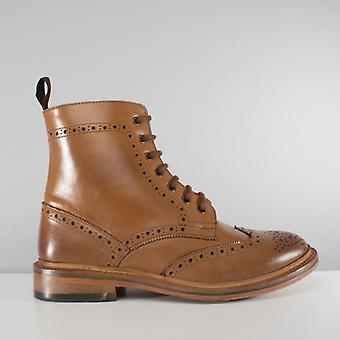 Catesby Shoemakers Balmoral Mens Goodyear Welted Derby Boots Tan