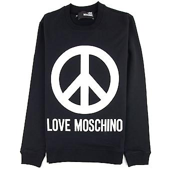 Love Moschino Black Peace Sign Jumper