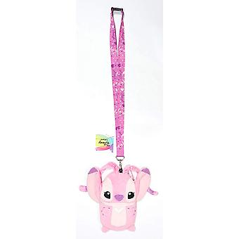 Lanyard - Lilo Stitch - Angel w/Pouch New 85054