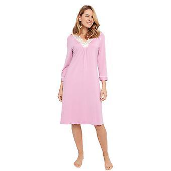 Cyberjammies 1348 vrouwen ' s Nora Rose Lydia roze modal Lace mini shirt