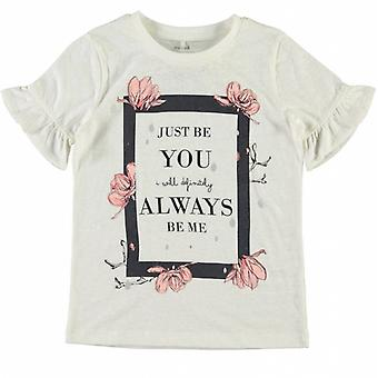 Name-It Wiite Meisjes T-Shirt Jobila