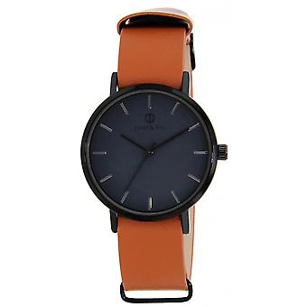 James And his JAS10121 902 - watch Leather Brown man