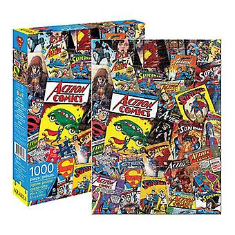 Dc tegneserier superman retro collage 1000pc puslespil