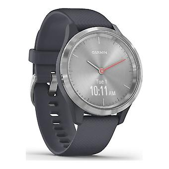 Garmin - Hybrid Watch - vivomove 3S Granite Blue Silver - 010-02238-00