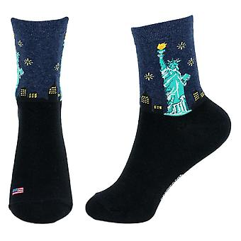 Women's USA Statue of Liberty Newy Crew Socks