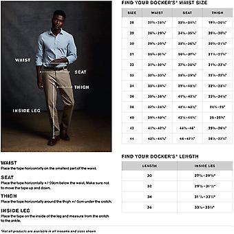 dockers Men's Classic Fit Signature Khaki Lux Cotton Stretch Pants, Paper Whi...