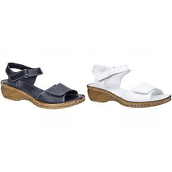 Frota & Foster mulheres/senhoras Linden toque de fixação sandálias