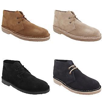 Roamers volwassenen Unisex echte Suede bekleed Desert Boots