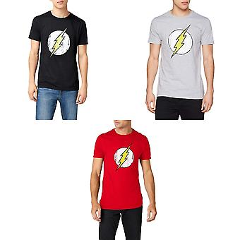 Flash Unisex Adults Distressed Logo Design T-Shirt