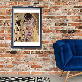Gustav Klimt - o beijo amantes Poster impressão giclée