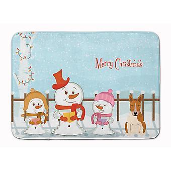 Joyeux Noël chanteurs Bull Terrier rouge blanc Machine tapis en mousse mémoire lavable