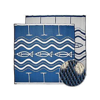 Go Fish Aboriginal Design Recycled Mat