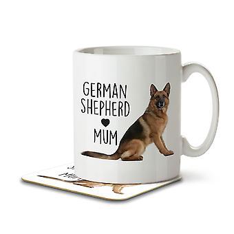 German Shepherd Mum - Mug and Coaster