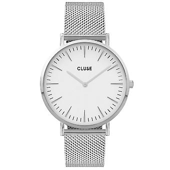Cluse Watches Cw0101201002 La Boheme White & Silver Mesh Ladies Watch