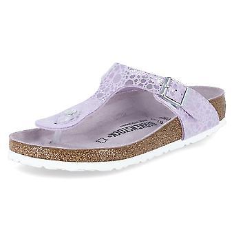 Birkenstock Gizeh 1012921GIZEHMETALLICSTONESLILAC chaussures universelles pour femmes d'été