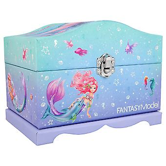 Top Model Fantasy Model Jewellery Box With Light, Mermaid 11123