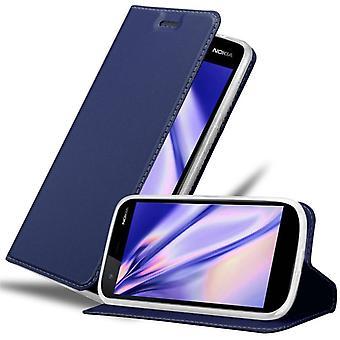 Cadorabo fall för Nokia 1 fall fallskydd - telefonfodral med magnetiskt lås, stå funktion och kortfack - Case Cover Protective Case Case Book Folding Style