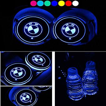 2X BMW logo Led baseplate for cup holder