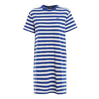 Ralph Lauren Ezcr012021 Women's White/blue Cotton Dress