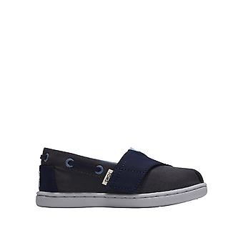Toms Boys' Forged Iron Canvas Tiny Toms Biminis Slip-Ons