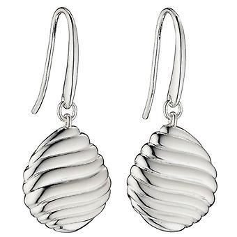 Elemente Silber Wirbel Kiesel Ohrringe - Silber