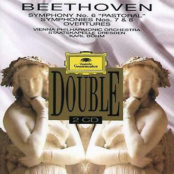 Bohm/Vienna Philharmonic Orch. - Beethoven: Symphonies Nos. 6, 7, 8; Overtures [CD] USA import
