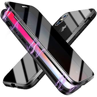 Magnetische mobile Hülle mit Bildschirmschutz für iPhone XS Max - schwarz