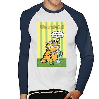 Garfield knorrige ik haat maandag tand plakken overal mannen ' s honkbal lange mouwen T-shirt