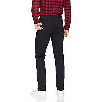 Essentials Men's Slim-Fit Stretch Jean, Nero, 40W x 34L