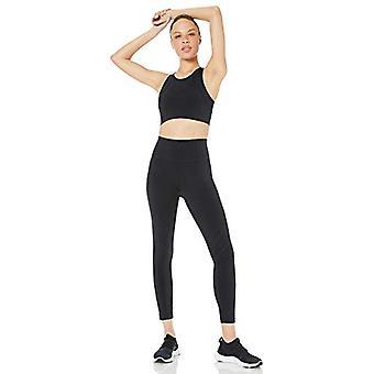Core 10 Women's Standard Onstride Back Cut-Out Workout Sports Bra, Black, S (...