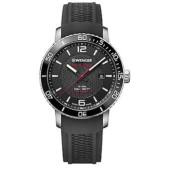 Wenger Roadster Black Dial Silicone Strap Men's Watch 01.1841.102