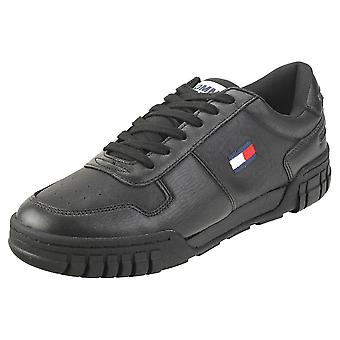 Tommy Jeans Retro Sneaker Mens Fashion Trainers in Black