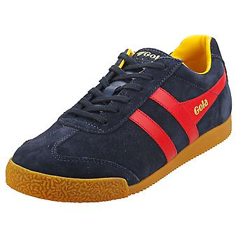 Gola Harrier Herre Classic Trænere i Navy Red Yellow
